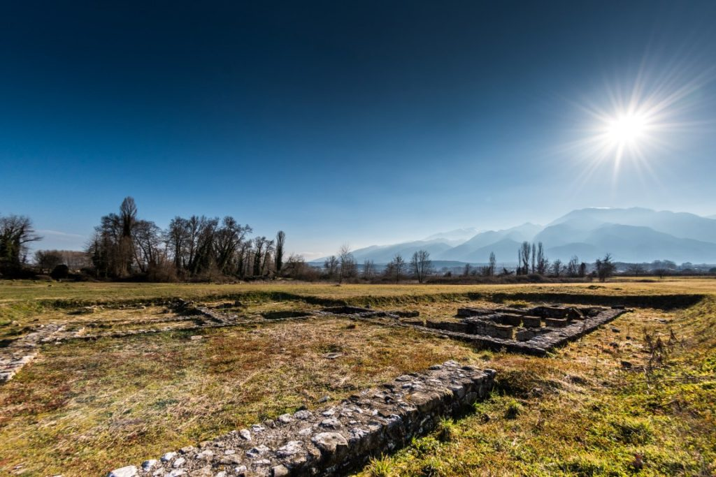 Archaelogical Park of Dion with Mount Olympus in the background _B. Agglopoulos